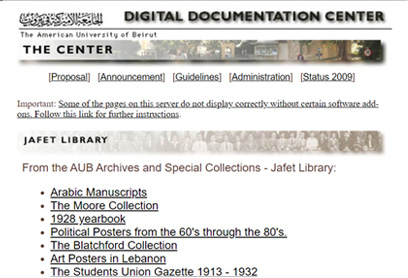 DDC web archive