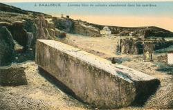 """<bdi class=""""metadata-value"""">Baalbeck : Enorme bloc de calcaire abandonné dans les carrières</bdi>"""